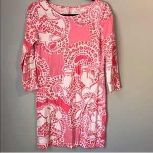 Lilly Pulitzer Marlowe Dress pink trunk in love XS